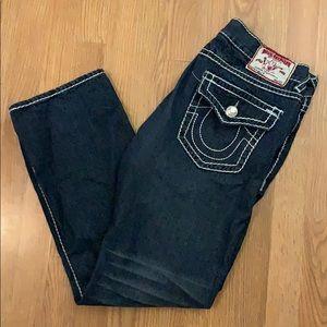 True Religion Men's Super QT Straight Jean w/ Flap